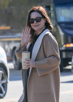 Sophia Bush - Exits a coffee shop in Los Angeles