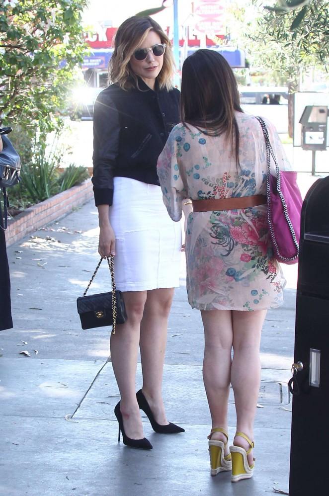 Sophia Bush in White Skirt -01