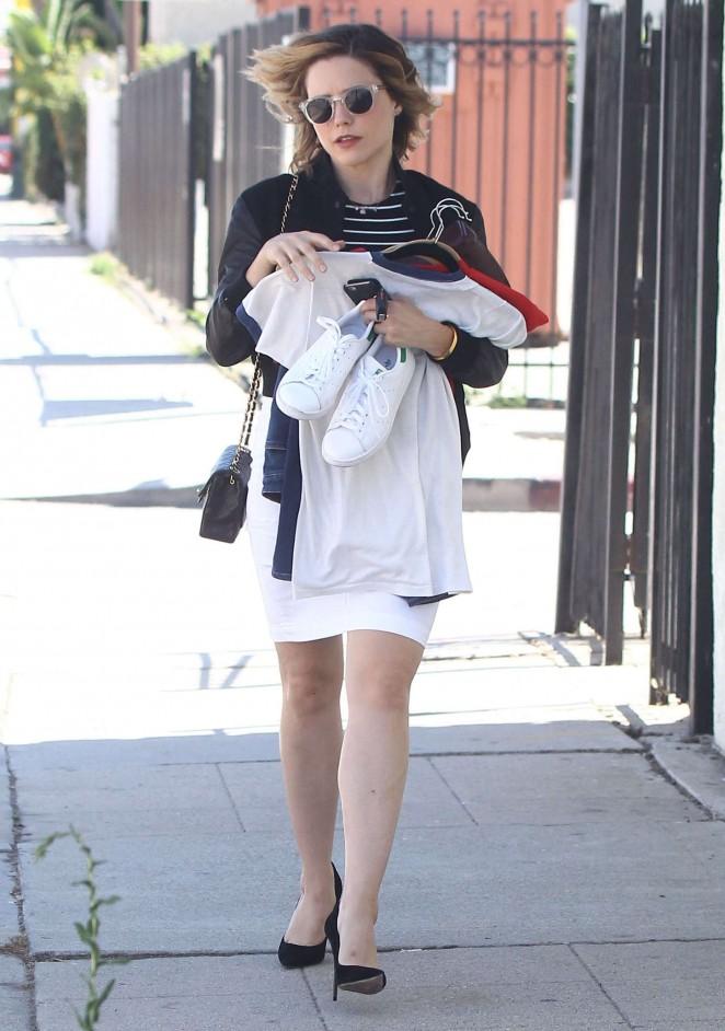 Sophia Bush in White Skirt -02