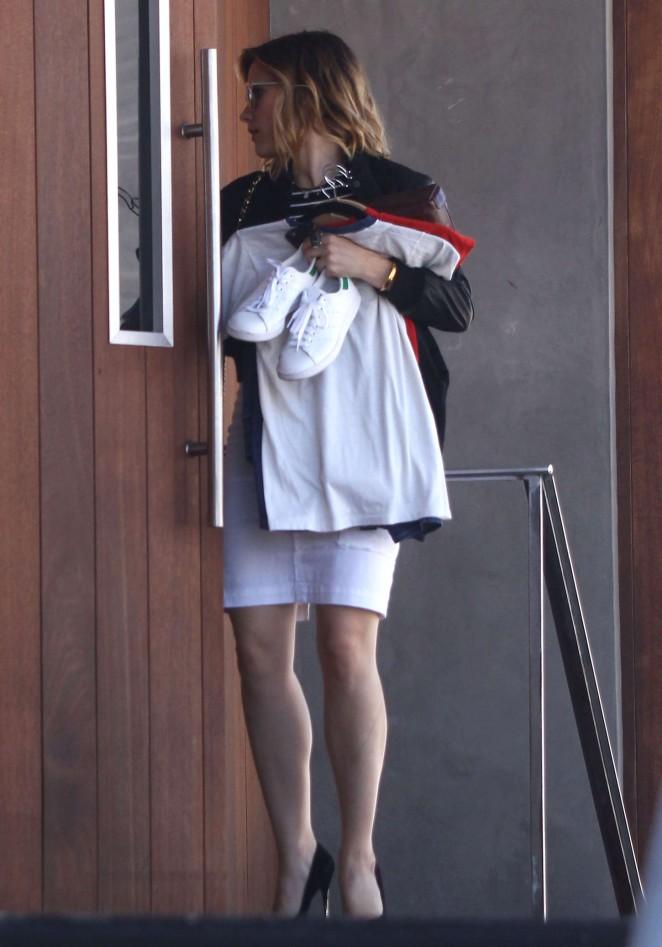 Sophia Bush in White Skirt -03