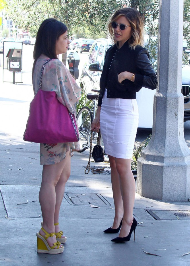 Sophia Bush in White Skirt -07