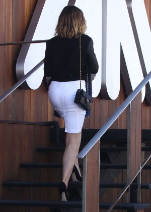 Sophia Bush in White Skirt Out in LA