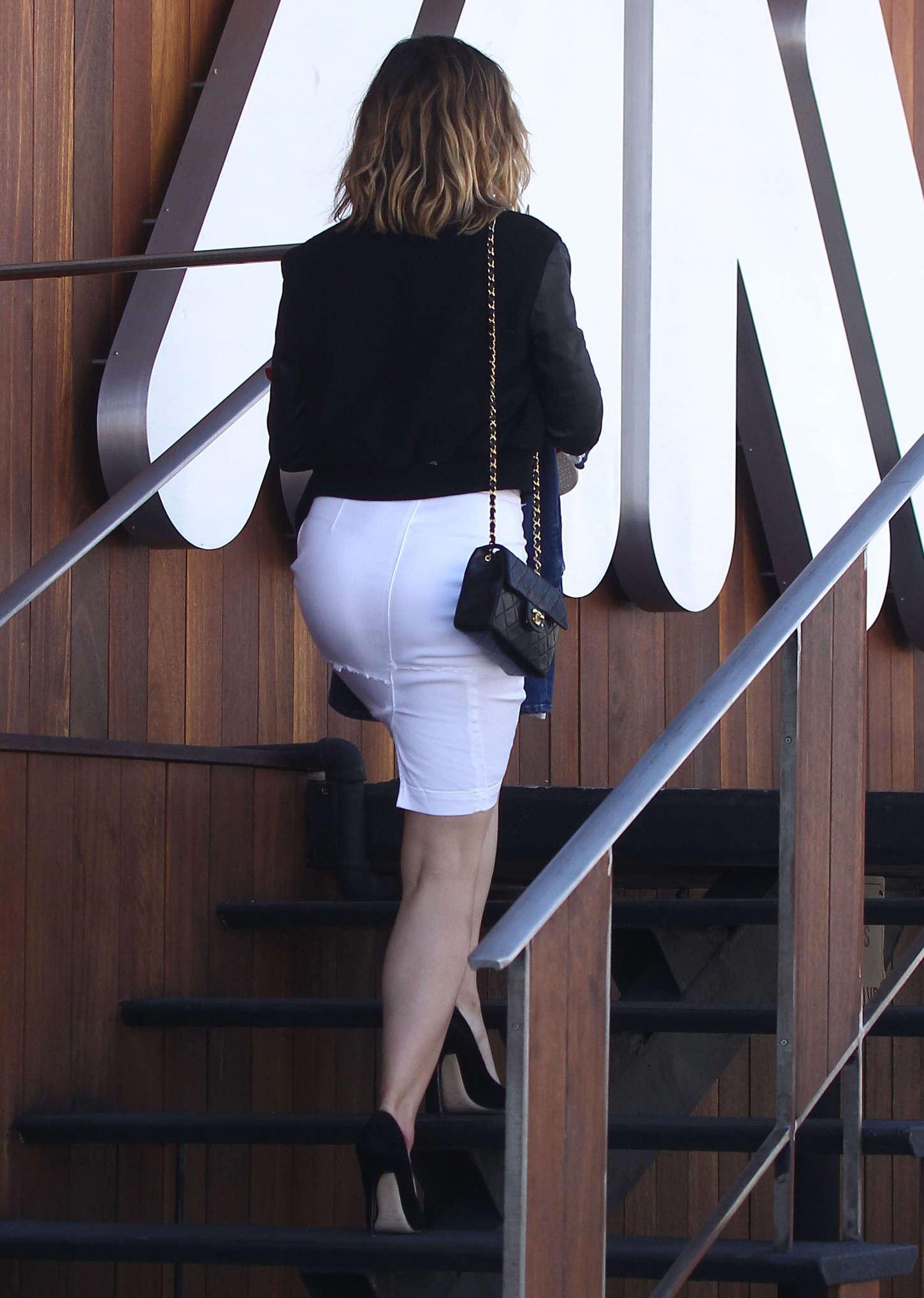 Sophia Bush in White Skirt Out in LA