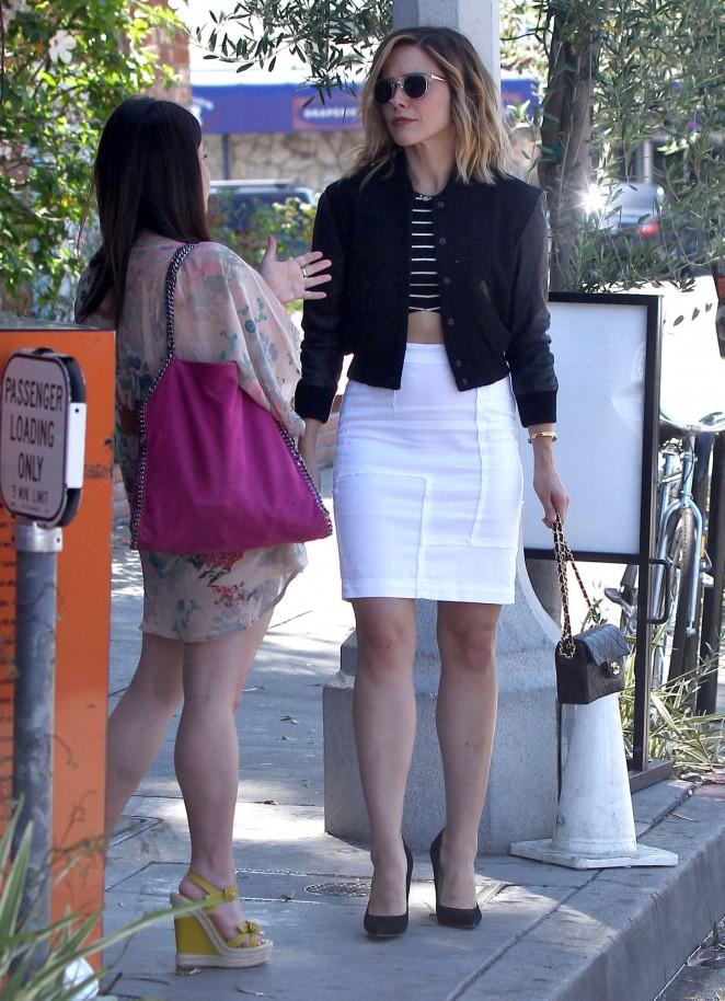 Sophia Bush in White Skirt -18