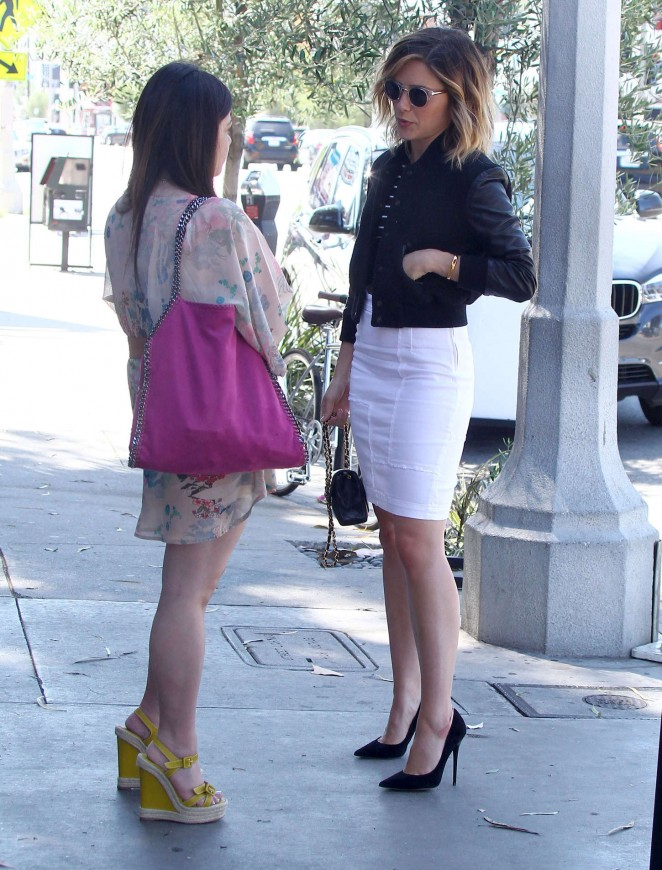 Sophia Bush in White Skirt -19
