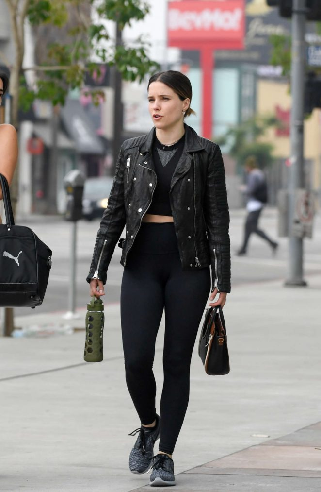 Sophia Bush - Leaves a pilates class in West Hollywood