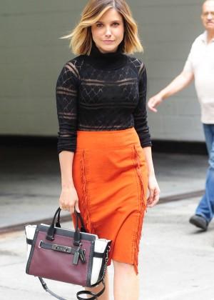 Sophia Bush - Leaving a hotel in New York City