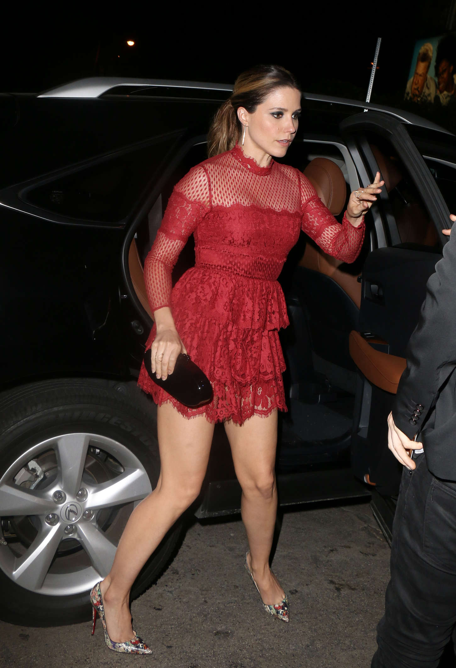 sophia bush in red mini dress 06 gotceleb