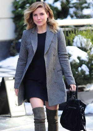 Sophia Bush - Leaving the set of 'Law & Order' in NY