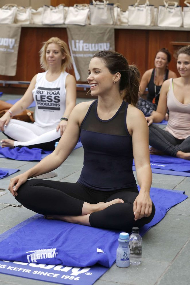 Sophia Bush - Lifeway Foods Sun Salutation Yoga Event at NoMI in Chicago