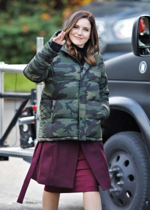 Sophia Bush - On set of her new TV show 'Surveillance' in Vancouver