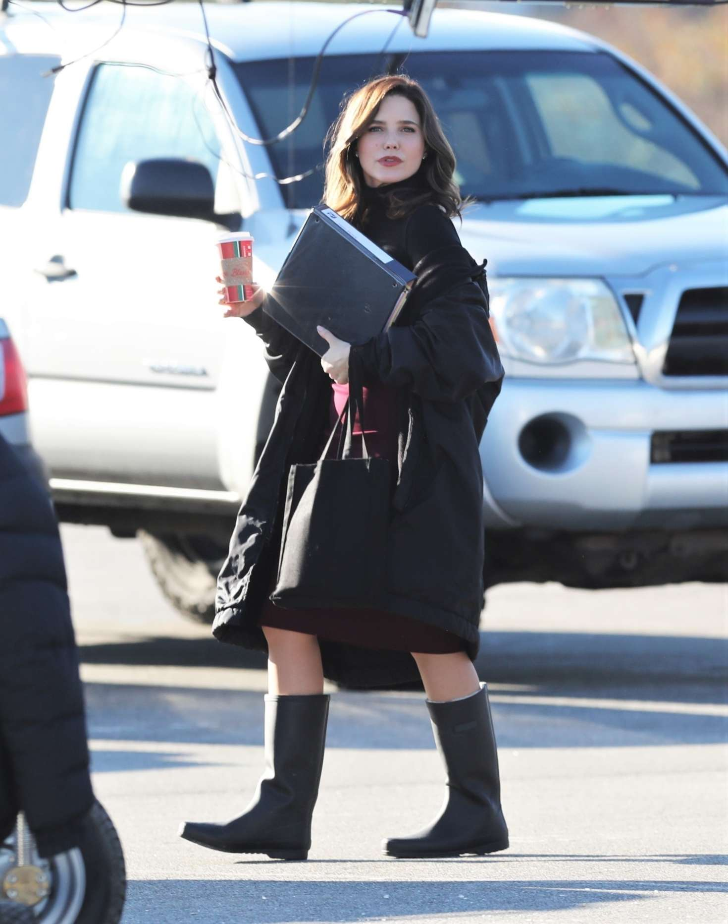 Sophia Bush - On the Set of 'Surveillance' in Vancouver