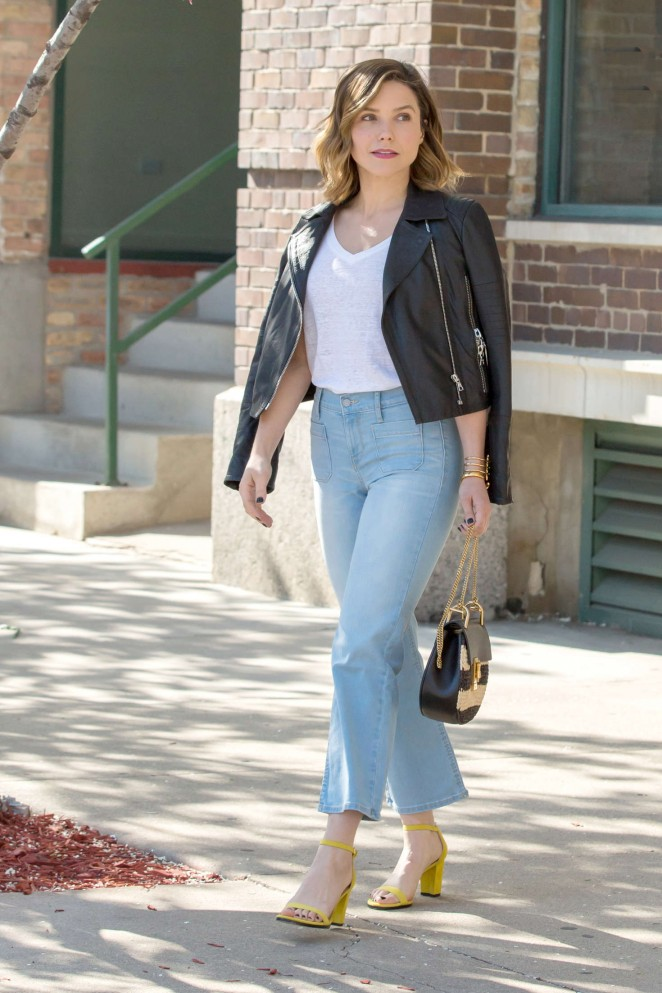 Sophia Bush in Jeans Out in Chicago