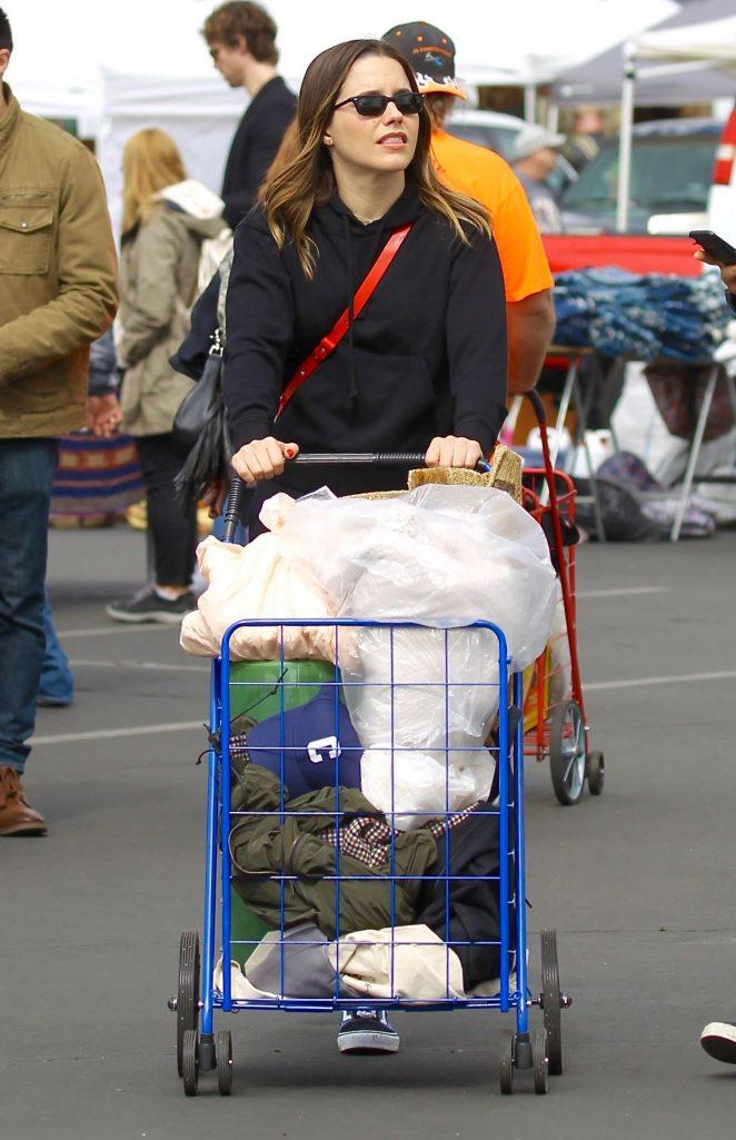 Sophia Bush - Shopping at the Melrose Trading Post in LA