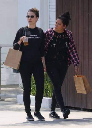Sophia Bush in Tights Shopping in Venice Beach
