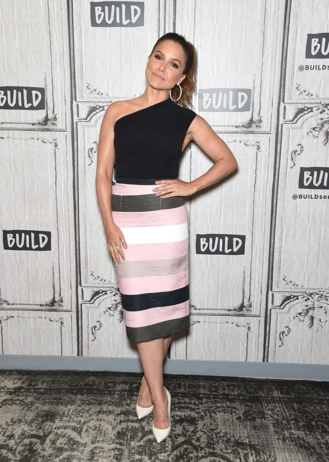 Sophia Bush visits the Build Series in New York City