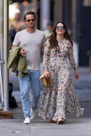 Sophia Bush - With Grant Hughes out in New York City