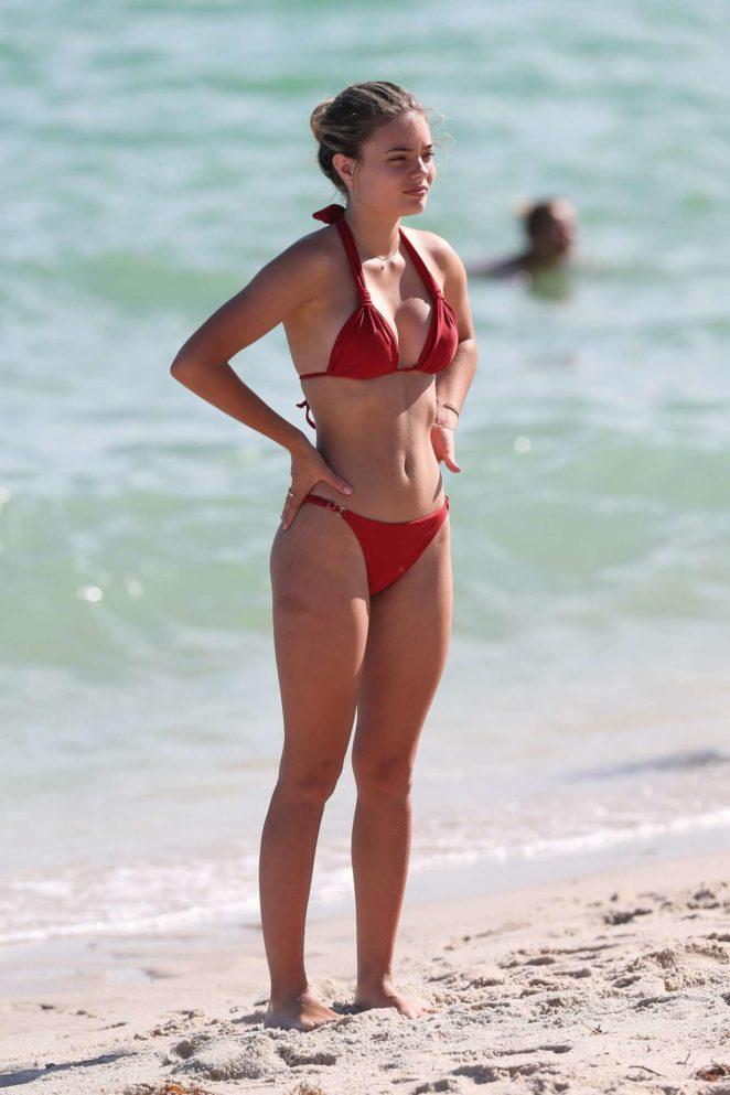 Sophia Vantuno in Red Bikini 2017 -03