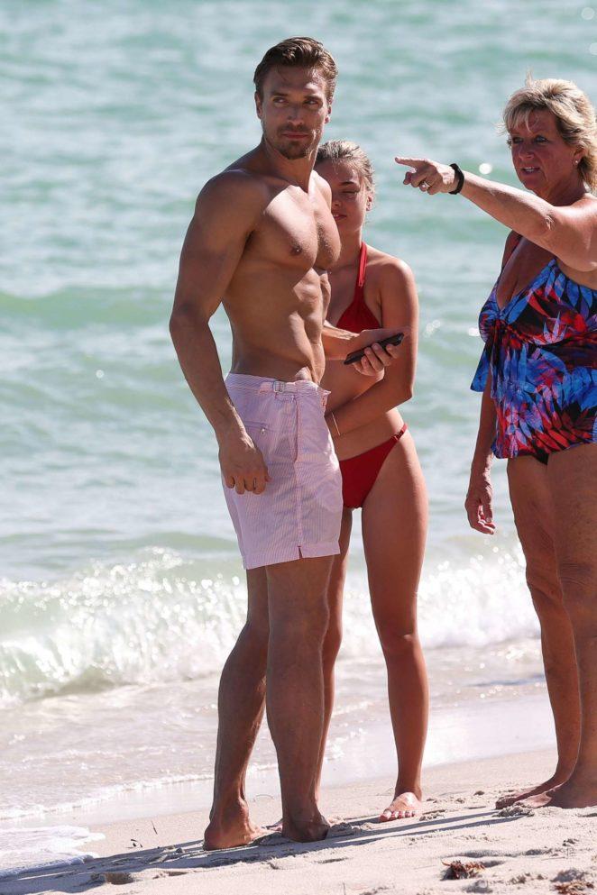 Sophia Vantuno in Red Bikini 2017 -33