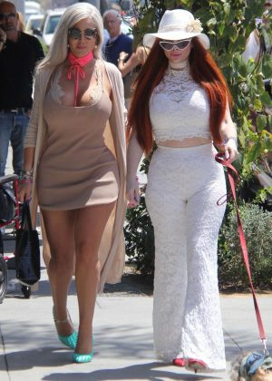 Sophia Vegas Wollersheim and Phoebe Price at Il Pastaio in Beverly Hills