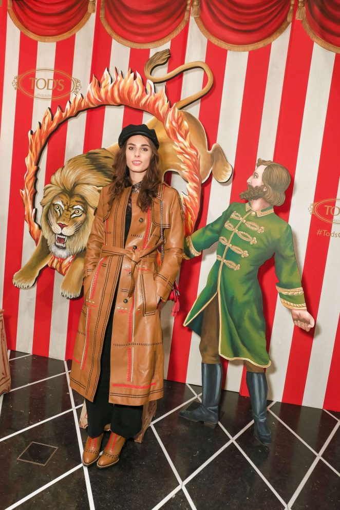 Sophie Auster - Tod's Fellini-esque Holiday Circus Celebration in NY