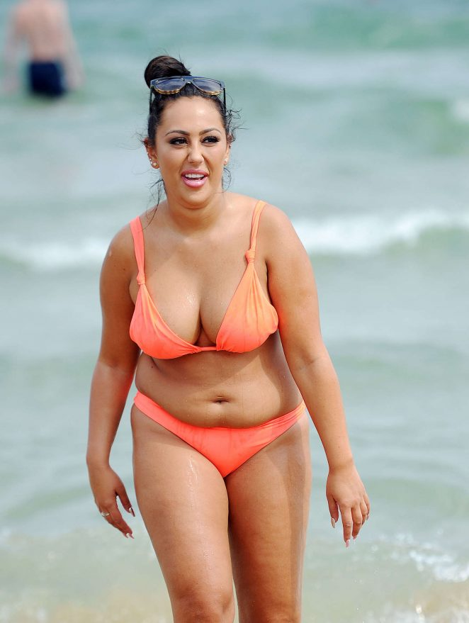 Sophie Kasaei in Bikini on a beach in Australia