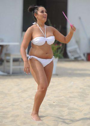 Sophie Kasaei in White Bikini 2016 -05