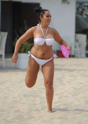 Sophie Kasaei in White Bikini 2016 -08