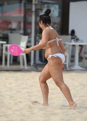 Sophie Kasaei in White Bikini 2016 -09