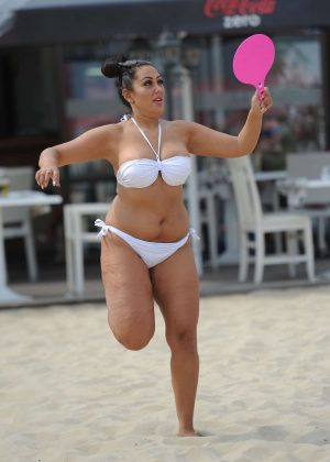 Sophie Kasaei in White Bikini 2016 -10