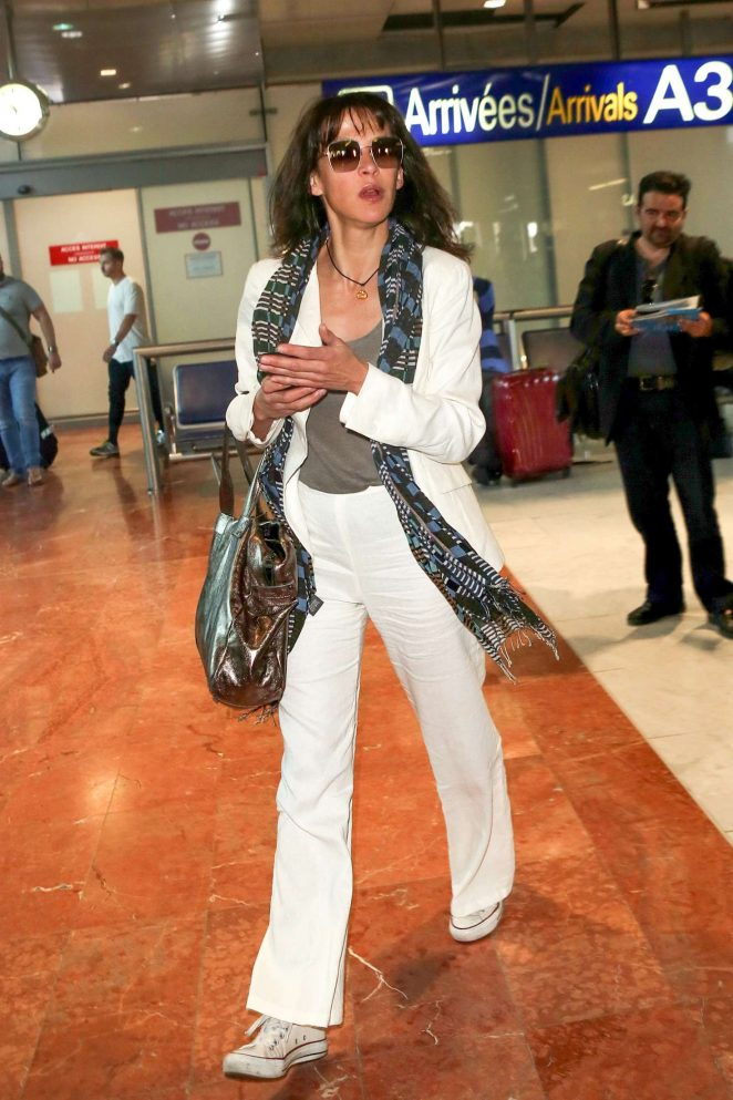 Sophie Marceau Arrives at Nice Airport in Cannes