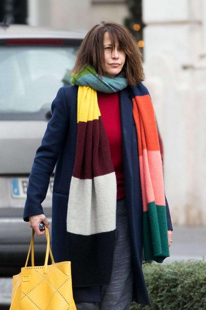 Sophie Marceau - Leaves the Shangri-La Hotel in Paris