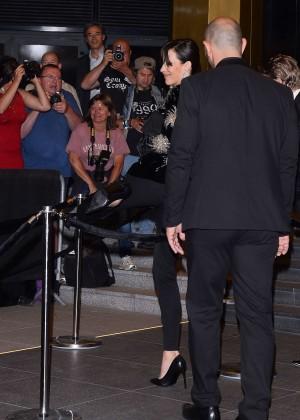 Sophie Marceau: Leaving the Marriott Hotel -09
