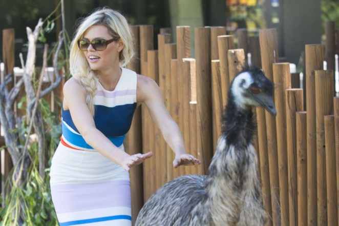 Sophie Monk at the zoo in Sydney -08