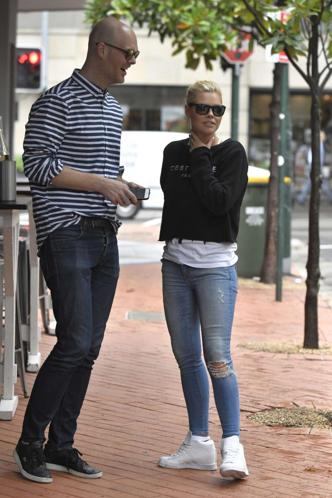 Sophie Monk in Jeans out in Sydney -10