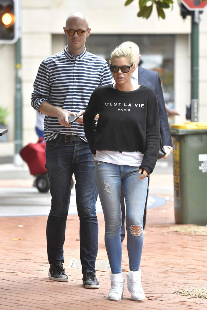 Sophie Monk in Jeans out in Sydney -20