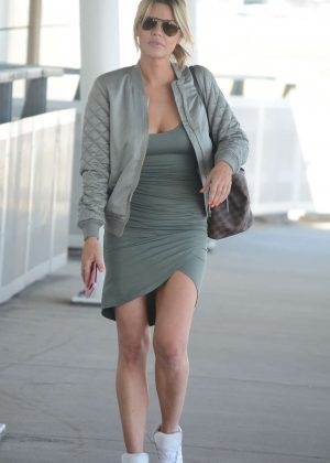 Sophie Monk in Mini Dress - Arrives at Airport in Sydney