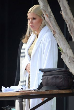 Sophie Monk - Ugg boots commercial shooting in Sydney