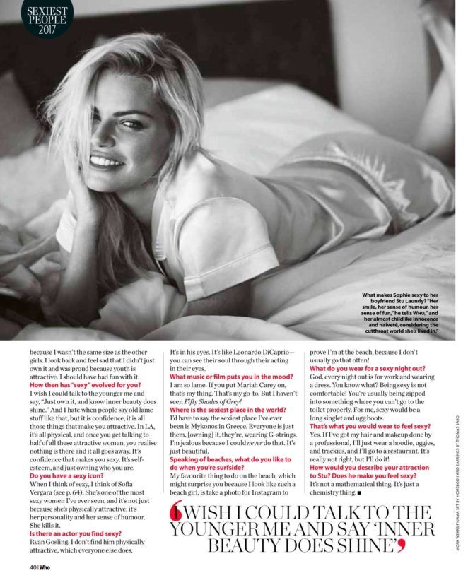 Sophie Monk: Who Magazine 2017 -01