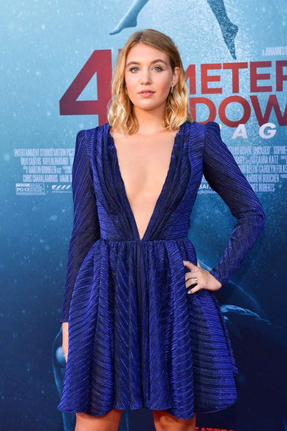 Sophie Nelisse - '47 Meters Down Uncaged' premiere photocall in Westwood