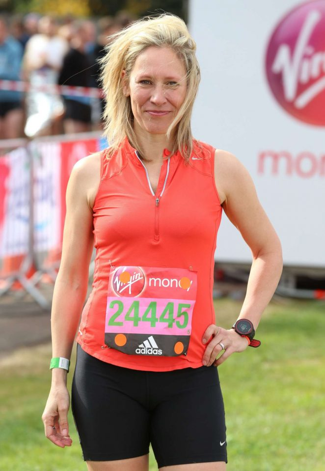 Sophie Raworth at The London Marthon