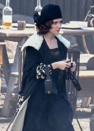 Sophie Rundle - Filming a Party scene for 'Peaky Blinders' in Dudley