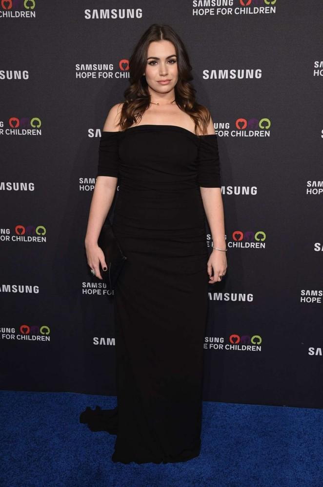 Sophie Simmons: Samsung Hope for Children Gala 2015 -03