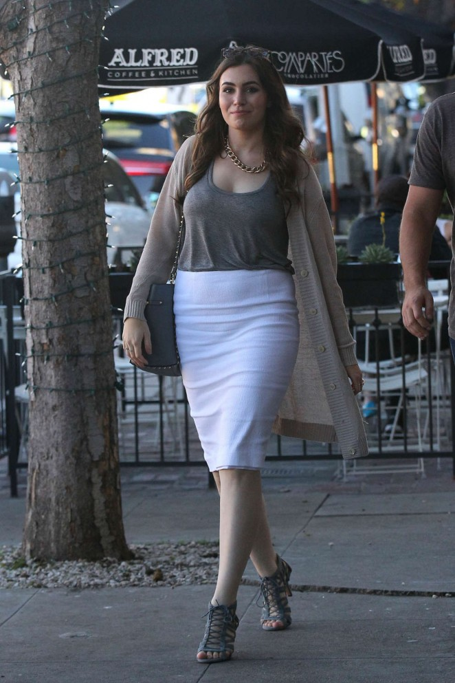 Sophie Simmons in White Skirt out in West Hollywood