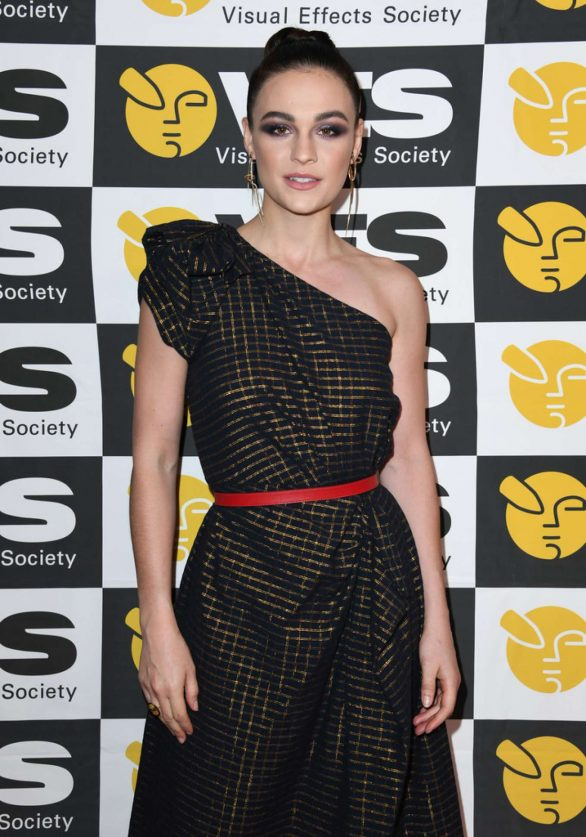 Sophie Skelton - 18th Annual Visual Effects Society Awards in Beverly Hills