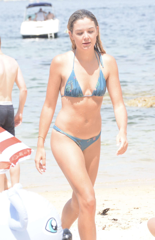 Sophie Tieman in Bikini at the beach in Valcluse