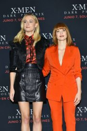 Sophie Turner and Jessica Chastain - 'X-Men: Dark Phoenix' Press Conference in Mexico