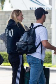 Sophie Turner and Joe Jonas - Arrives at Miami Airport