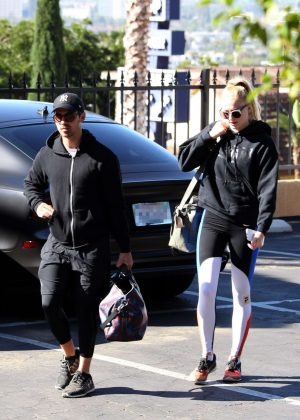 Sophie Turner and Joe Jonas Arriving for a morning workout in West Hollywood