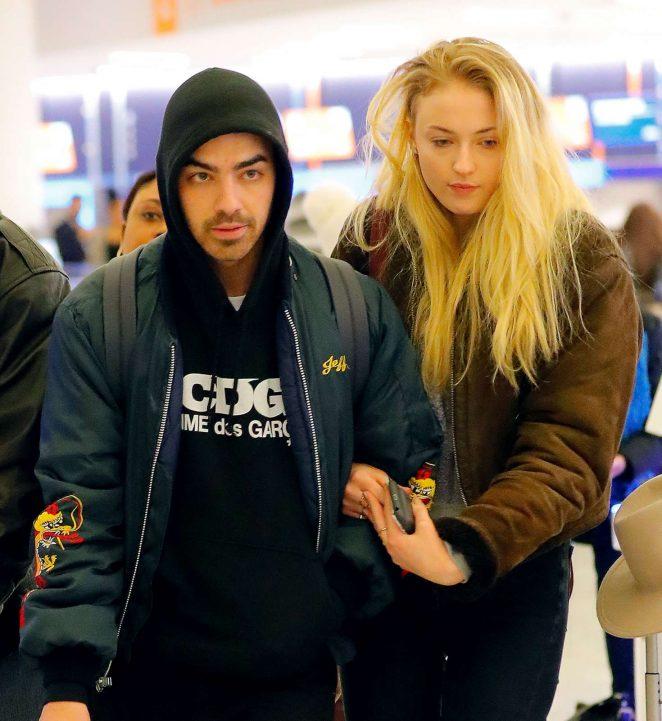 Sophie Turner and Joe Jonas Arriving in NYC